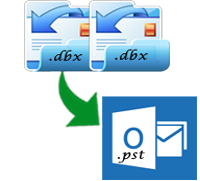 Easily convert DBX files to PST files