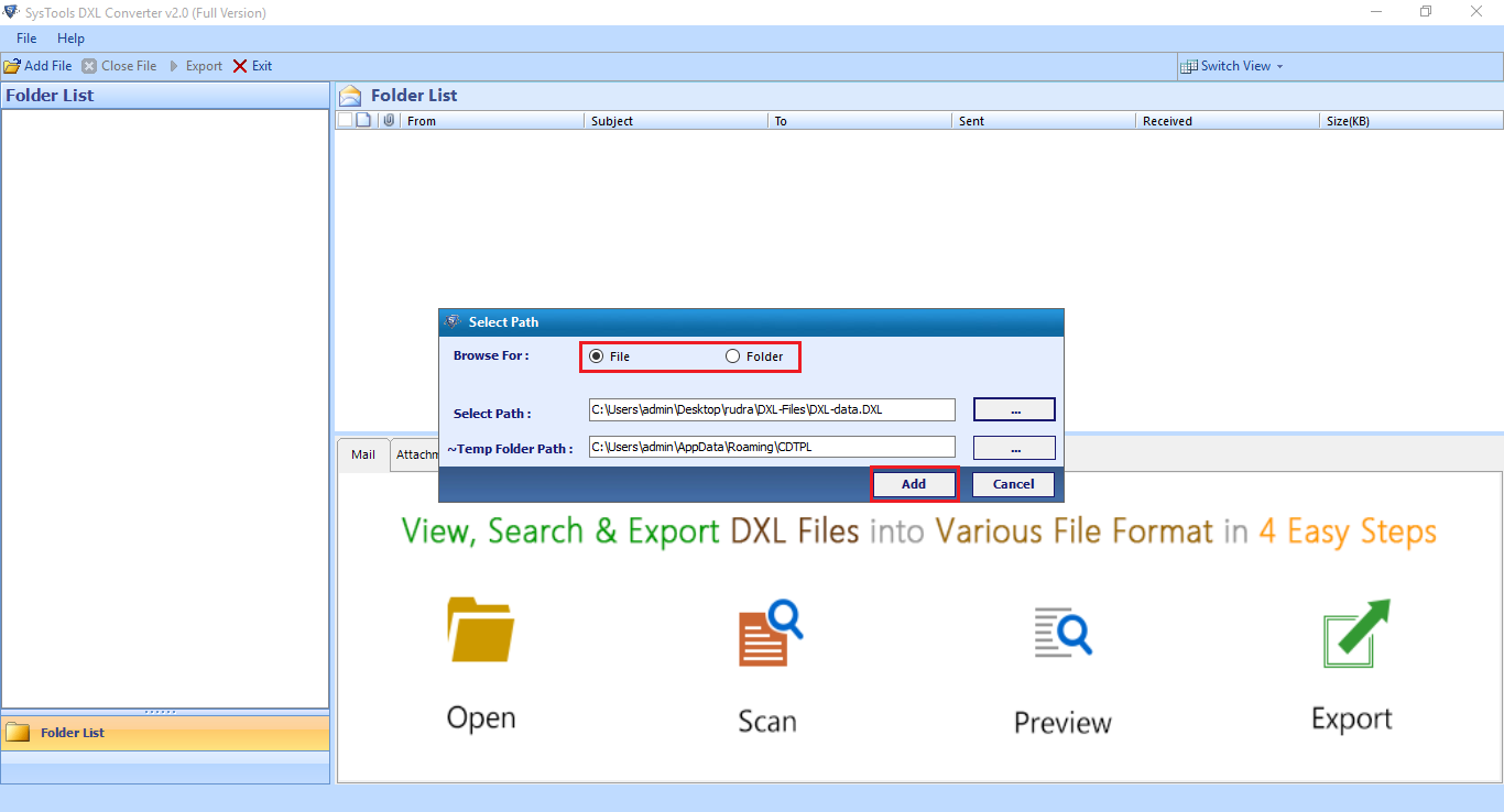 Browse All DXL Files using DXL Converter Tool