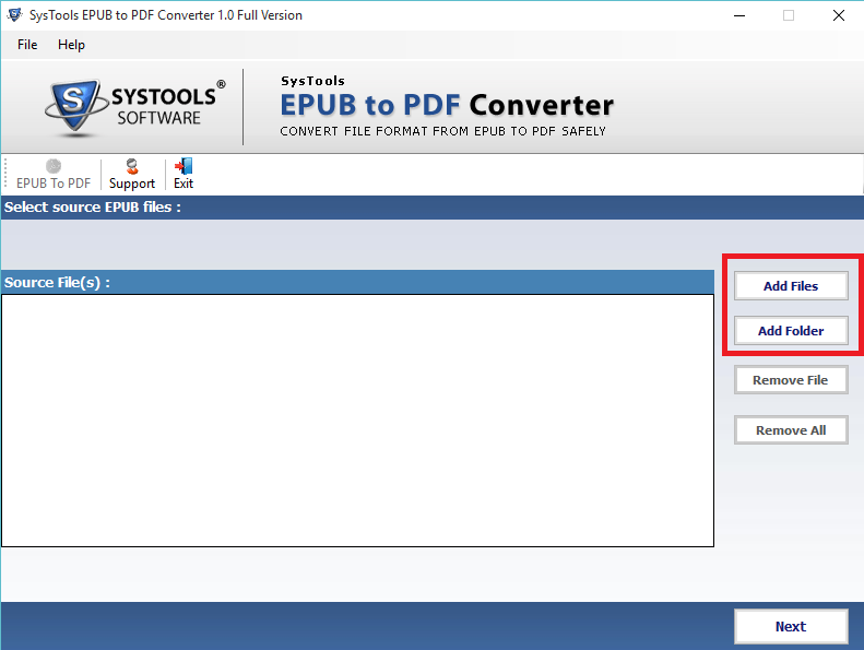 Add EPUB to PDF