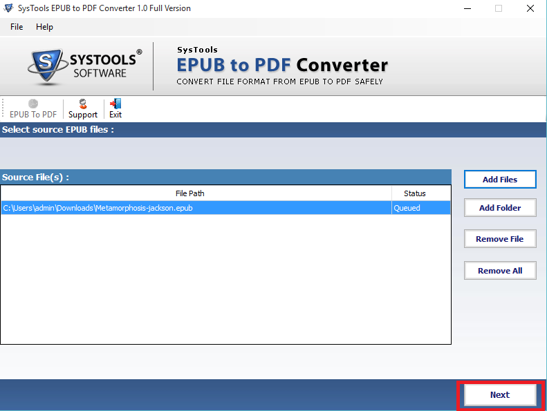 Attach all EPUB Details into PDF File
