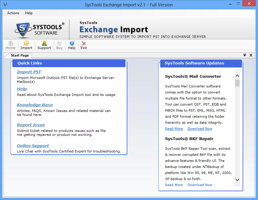 Exchange PST Import Software