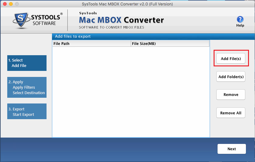 ADD Mac MBOX to PST